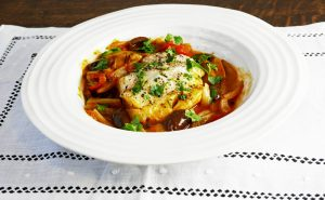Diet One Pot Cod with Fennel and Tomatoes