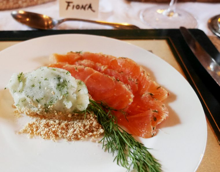 Gravadlax with Lime sorbet
