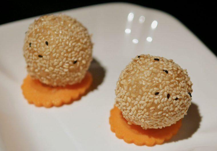 Hakkasan Hanway Place deep fried sesame balls