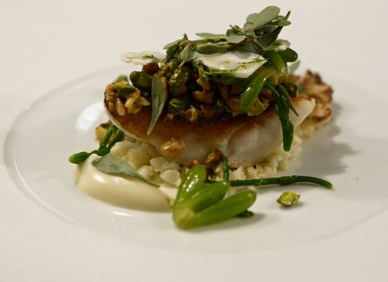 Turbot with Sea Purslane at Ormer