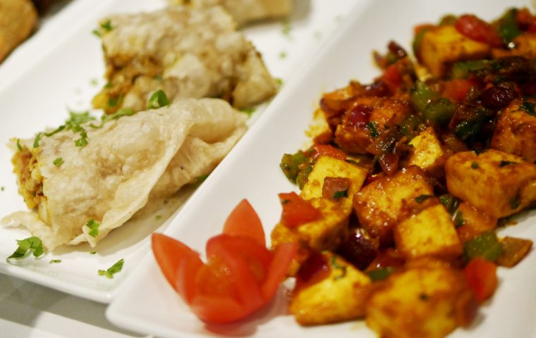 Paneer and Vegetarian Pastry at Coriander