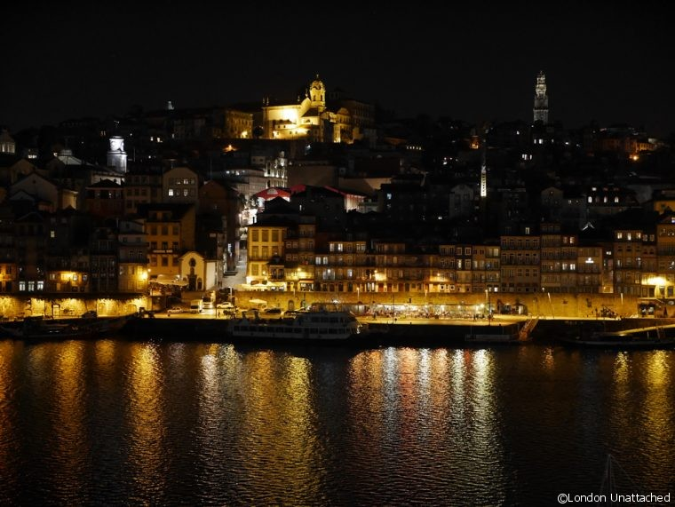 Porto at Night from Porto Cruz