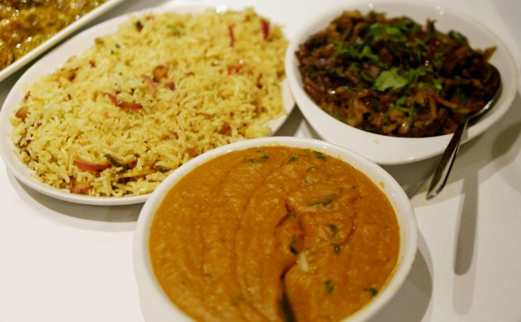 Rice Daal and Aubergine at Coriander