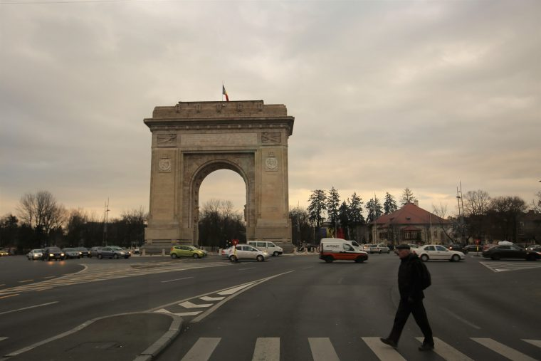 Romania Bucharest Arch of Triumph
