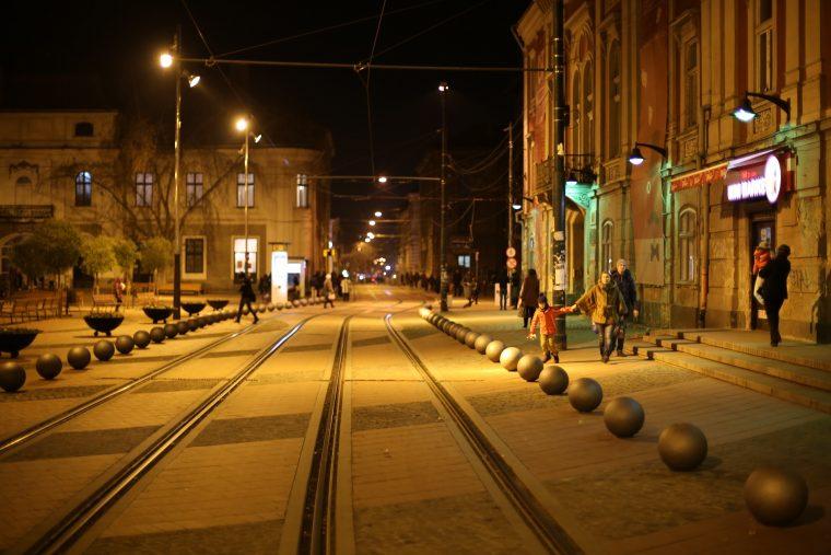 Romania Timisoara Wide Street