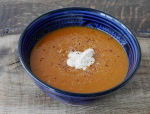 Low Calorie Lentil, Carrot and Tomato Soup