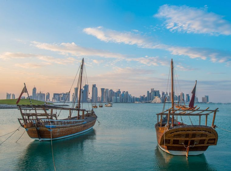 Dhow and Doha skyline