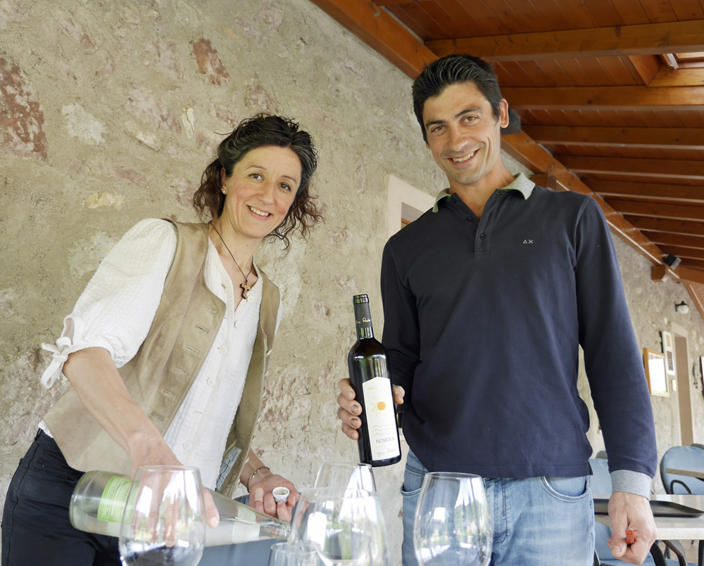 Garda Trentino Wine Maker and Sister - Copy