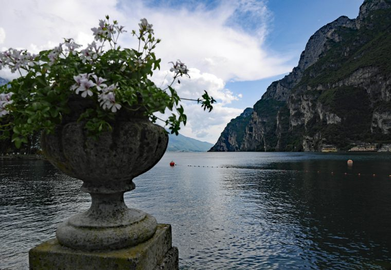 View over Lake Garda from Riva del Garda
