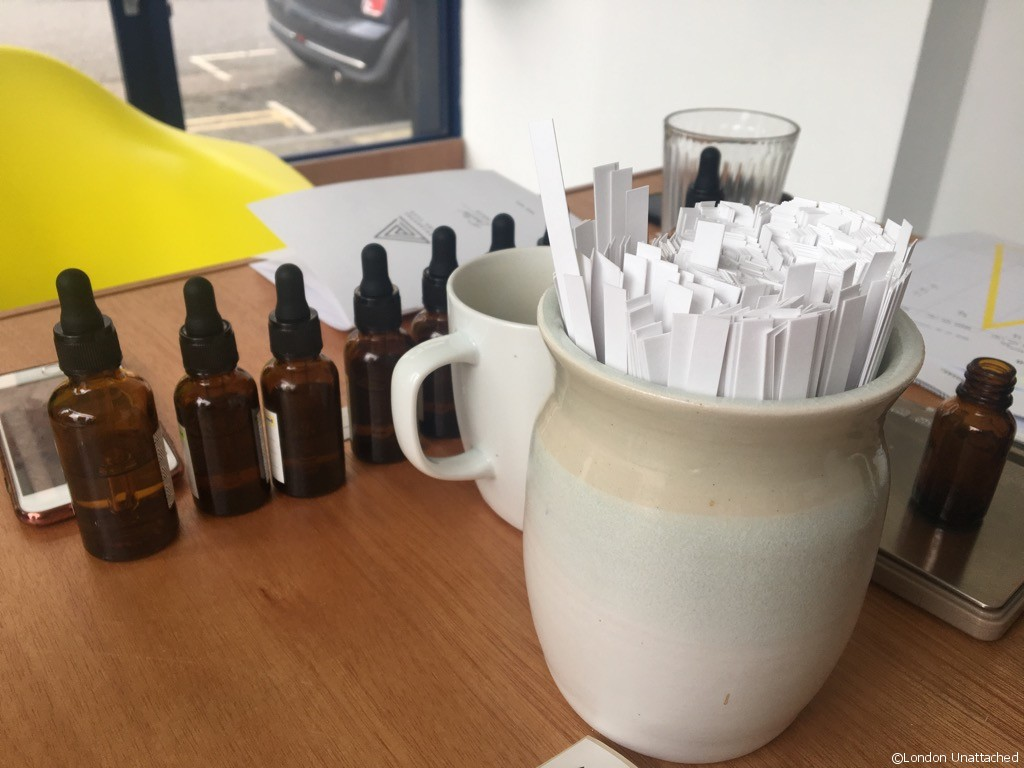 Experimental Perfume Club Workshop testing