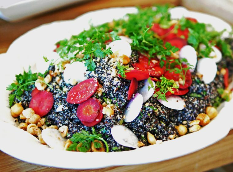 Black Quinoa Caper and Hazelnut Salad - The Langham