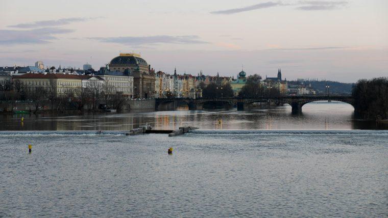 Dusk from Charles Bridge Prague