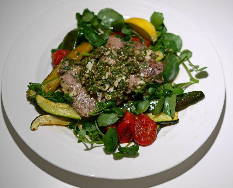 Herby pork escalopes