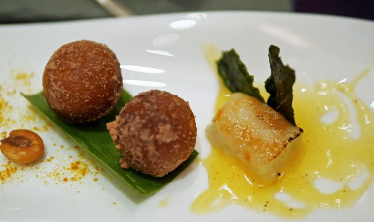 Quince and Banana Cake Balls, Orange Toast with Spinach