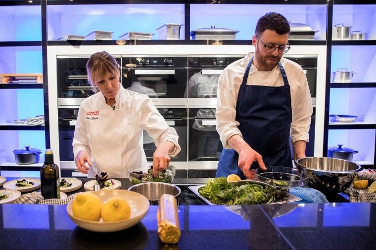 Chef Skye Gyngell prepares salad