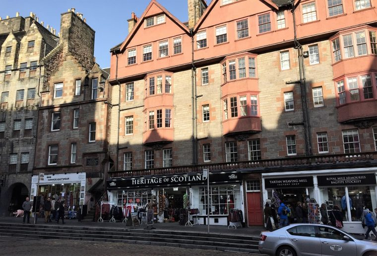 Photo of shops on the Royal Mile