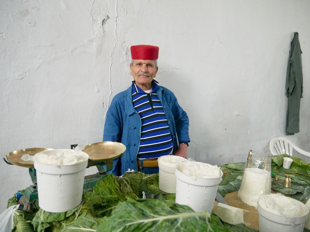 Cheese seller Medina Tunisia