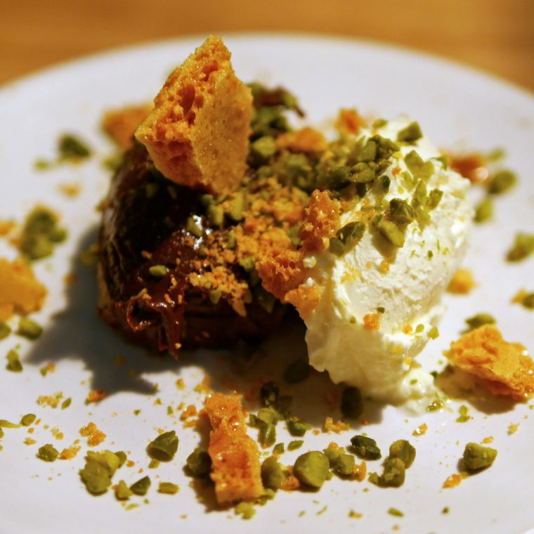 Chocolate Pistachio and Honeycomb at Palatino