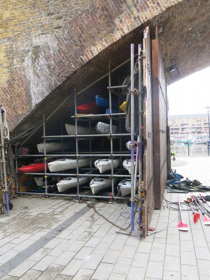 Cycle London Kayaks Under Bridge
