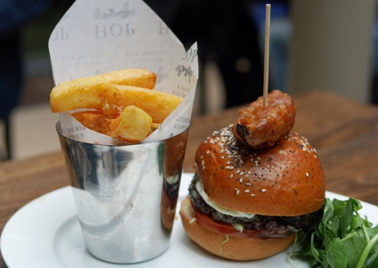 Galvin Hop Burger, Pickle and Chips