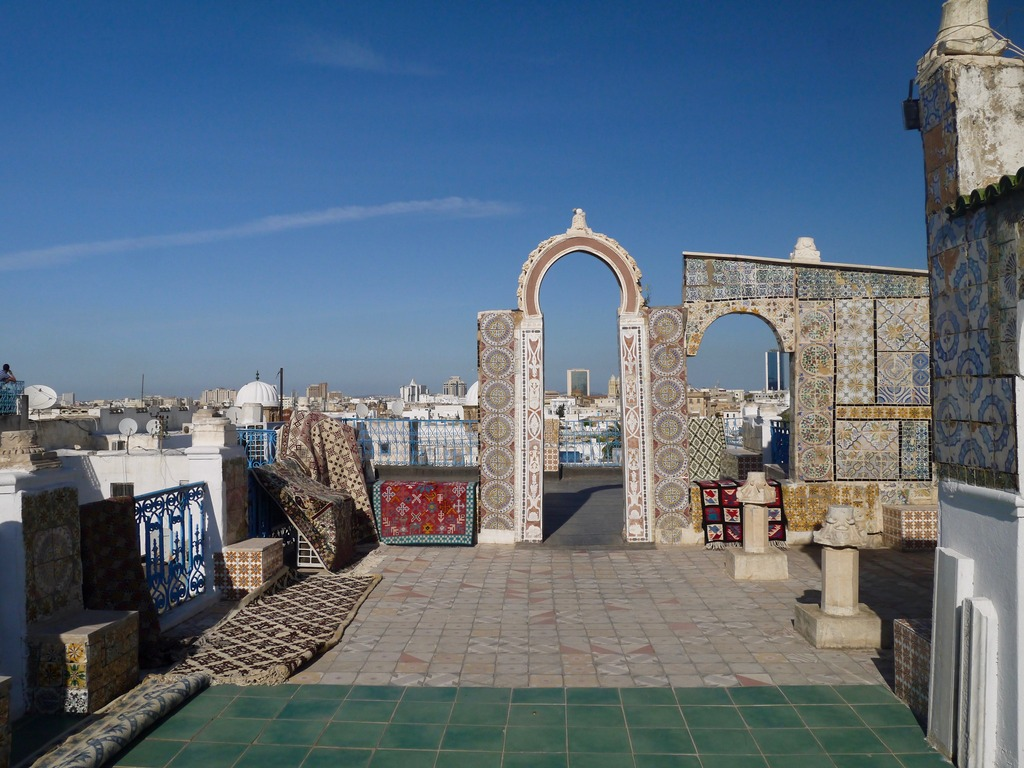 Rooftop arches, Tunisia
