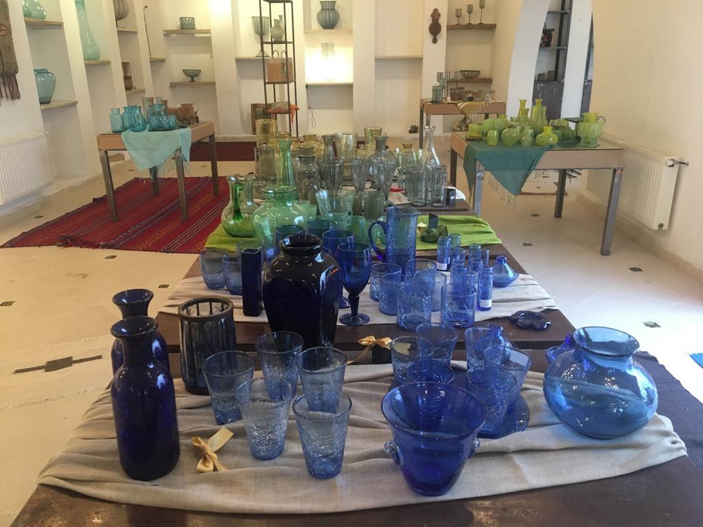 Sadika Keskes glass shop Tunisia