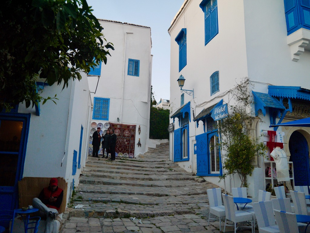 Sidi Bou Said steps Tunisia