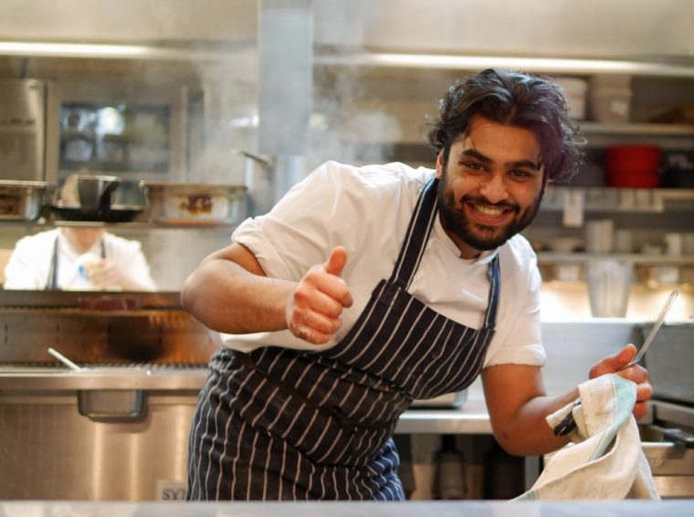 Smiling Chef Galvin Hop