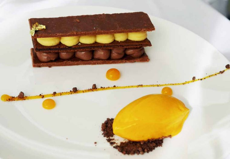 Sopwell House Dark chocolate Mille Feuille