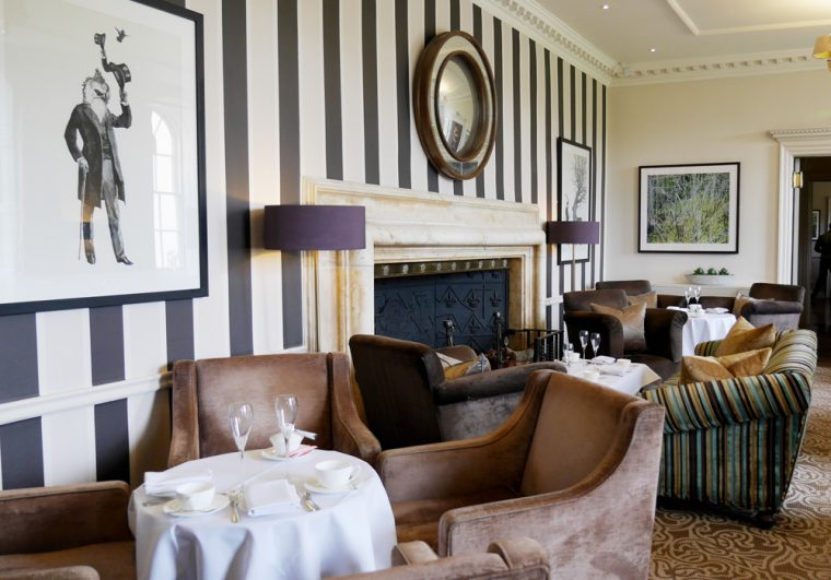 Sopwell House Lounge set for tea