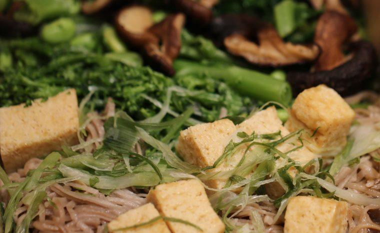 Close up Everdine Shitake and Tofu Teriyaki
