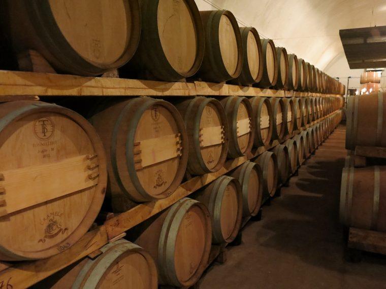 Cramele Recas Winery Romania Barrels