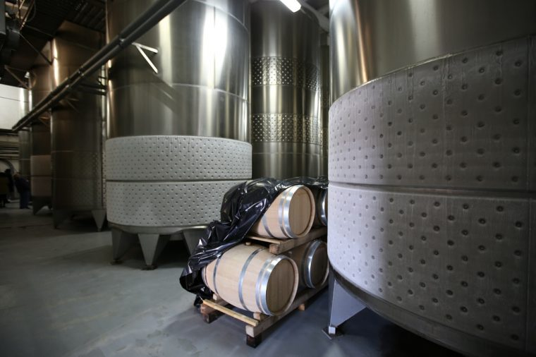 Cramele Recas Winery Romania Cold Tanks
