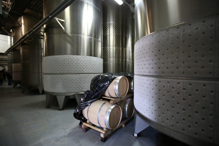 Cramele Recas Winery Romania Cold Tanks