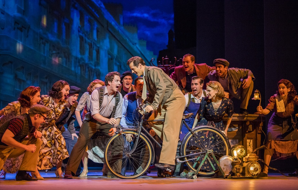 A scene from An American In Paris by George and Ira Gershwin @ Dominion Theatre. Directed and Choreographed by Christopher Wheeldon.<br /> (Opening 21-03-17)<br /> ©Tristram Kenton 03-17<br /> (3 Raveley Street, LONDON NW5 2HX TEL 0207 267 5550 Mob 07973 617 355)email: tristram@tristramkenton.com