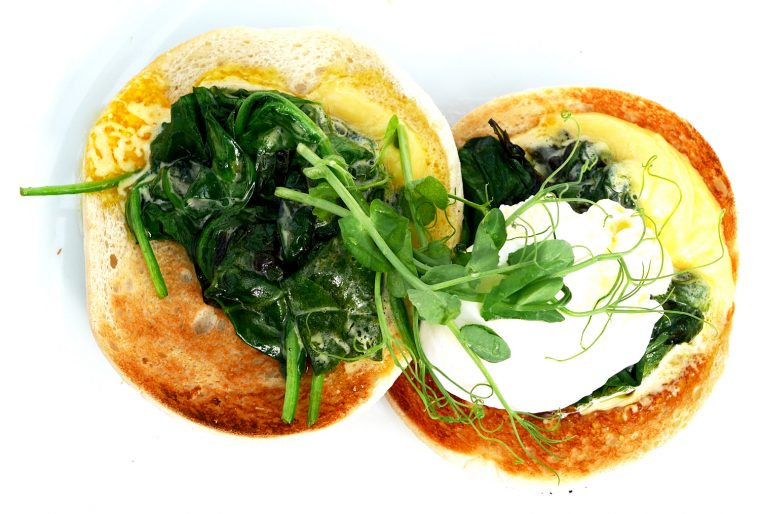 Eggs Florentine Breakfast