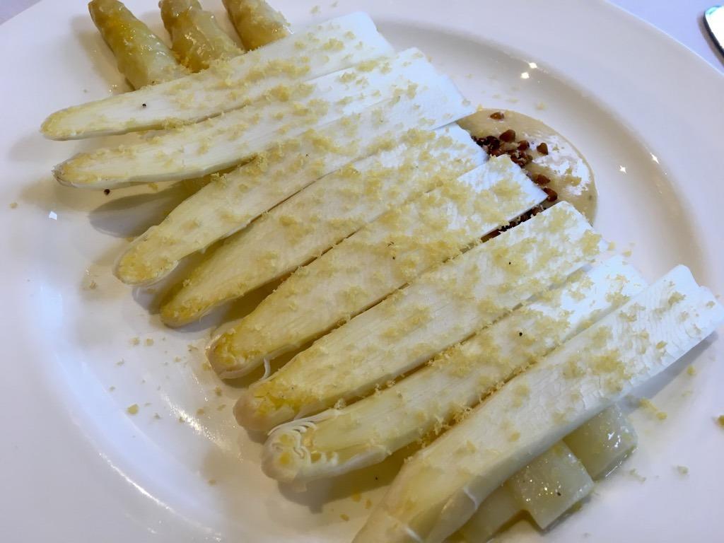 FLANDERS lunch at Trinity House asparagus