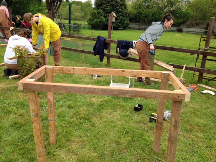 Learning New Land Girl Skills - Bench Frame