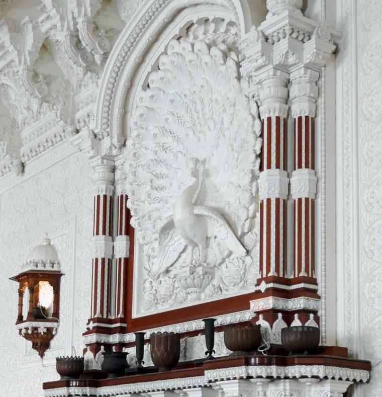 Peacock detail Darbur Room Osbourne House
