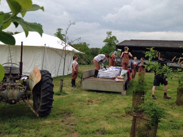 Soil Shovelling - Land Girls Experience