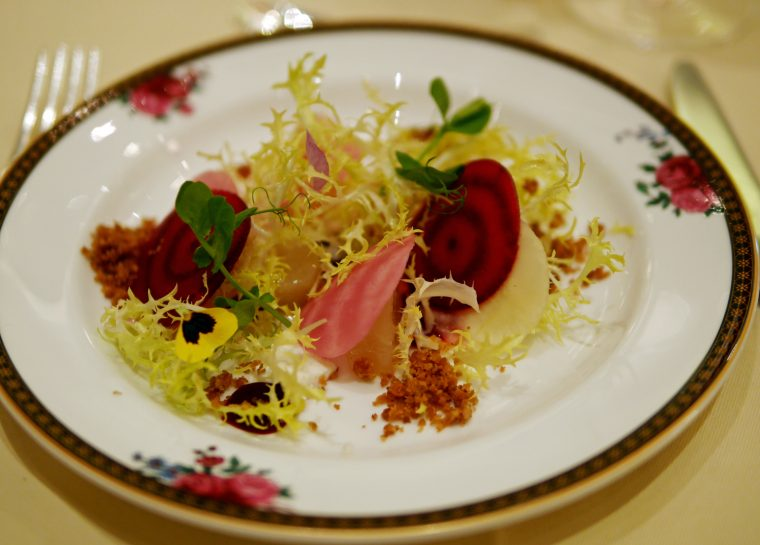The Langham Afternoon Tea Beetroot and Goats Cheese