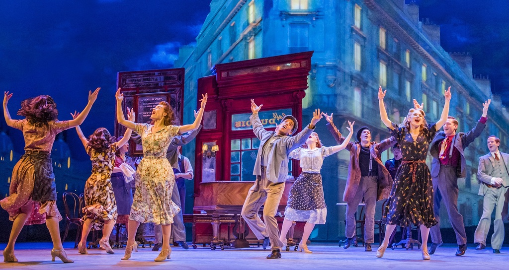A scene from An American In Paris by George and Ira Gershwin @ Dominion Theatre. Directed and Choreographed by Christopher Wheeldon.(Opening 21-03-17)©Tristram Kenton 03-17(3 Raveley Street, LONDON NW5 2HX TEL 0207 267 5550 Mob 07973 617 355)email: tristram@tristramkenton.com