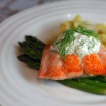 Wild Salmon with Dill Cream Sauce