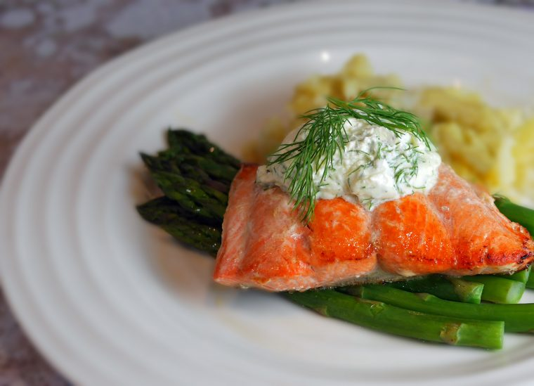 Alaskan Salmon with Dill Cream Sauce 2