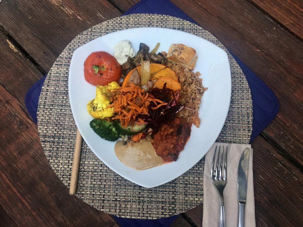 Vegan food, Ghent, Avalon Garden, Dinner