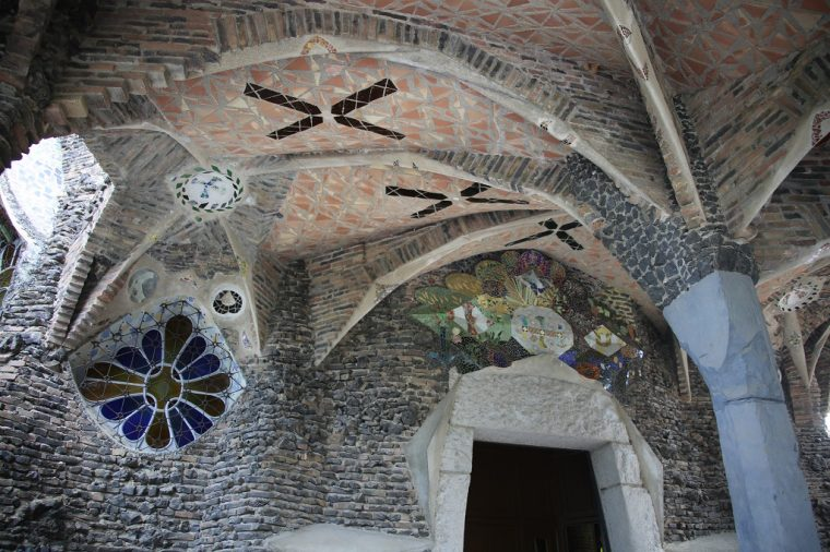 Colonia Guell Trencadis Mosaic