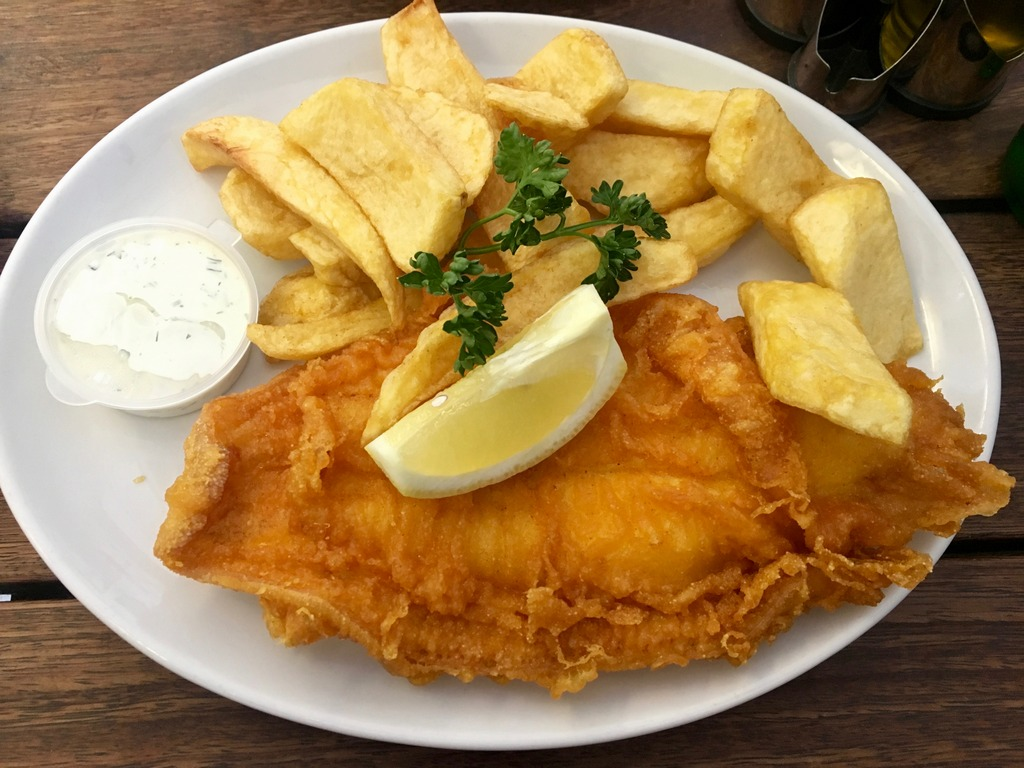Lemon sole and chips at Rock & Sole Plaice