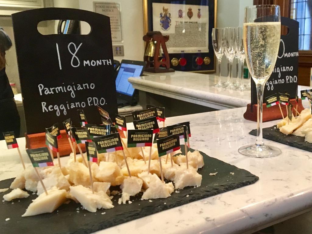 Parmigiano Reggiano P.D.O and prosecco
