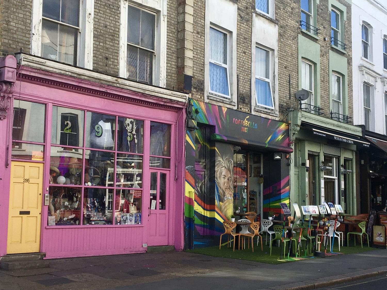 Portobello Road Shops Notting Hill Kensington