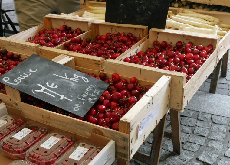 Tarn Cherries at Albi market